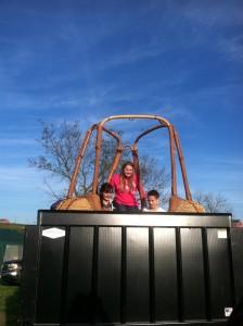 WDCU kids in a balloon basket